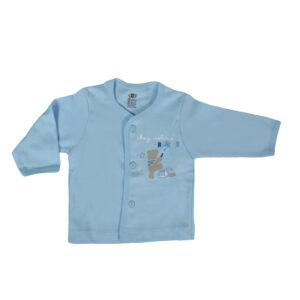 Zero Full Sleeve Front Open Vest - Blue-0