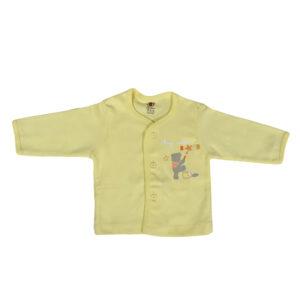 Zero Full Sleeve Front Open Vest - Yellow-0