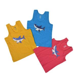 Zero Sleeveless Vest Multicolor Pack Of 3-0