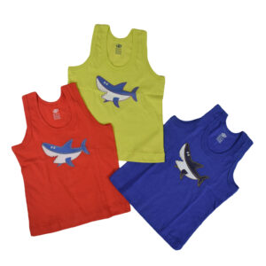 Zero Sleeveless Boy Vest Multicolor Pack Of 3-0