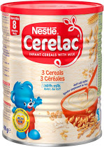 Nestle Cerelac 3 Cereals With Milk 8M+ (Stage 3) - 400gm-0