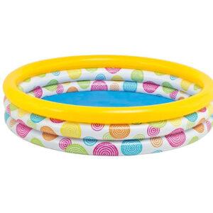 Intex 3 Tube Inflatable Pool (Multi Color) - 4 Feet-0