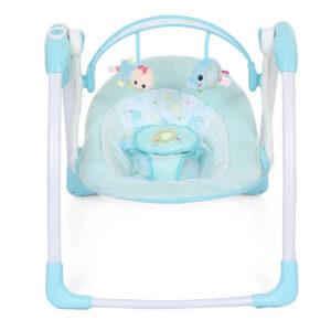 Mastela Deluxe Portable Swing - Aqua Blue-0