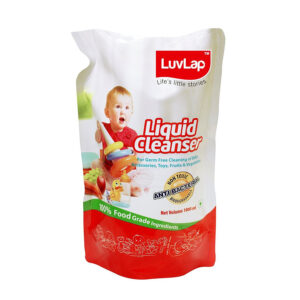 LuvLap Baby Bottles, Vegetable and Accessories Liquid Cleanser Refill Pack - 1000 ml Online-0