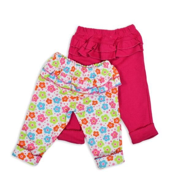 Carter Hosiery Cotton Legging (Pink/White) - Pack Of 2-0