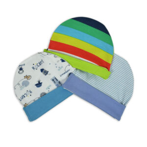 Multi Color New Born Summer Cap Pack Of 3-0