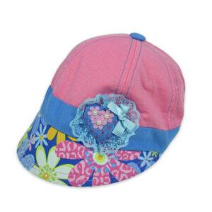 Flower Patch Girls Summer Cap - Pink-0