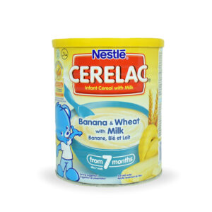 Nestle Cerelac Banana and Wheat With Milk 7M+ (Stage 2) - 400 gm-0