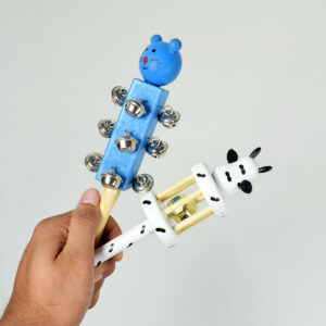 New Born Baby Hand Shake Wooden Rattle - 2 Peaces-0