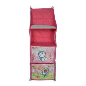 Multi Purpose Portable Foldable Hanging Almirah - Pink-0