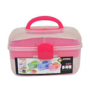 Multi Purpose Storage Box - Pink-0