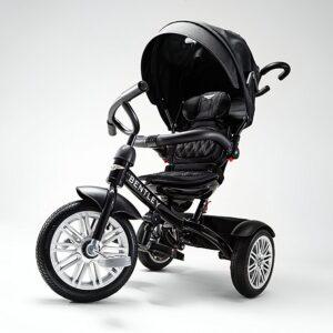Bentley 6-in-1 Baby Stroller / Kids Trike (BN1F) - Onyx Black-0