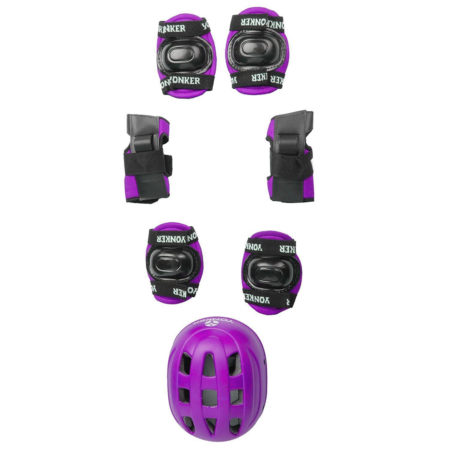 YONKER 4 In 1 Skating Protective Kit (Knee, Elbow and Wrist Guard With Safety Helmet-0
