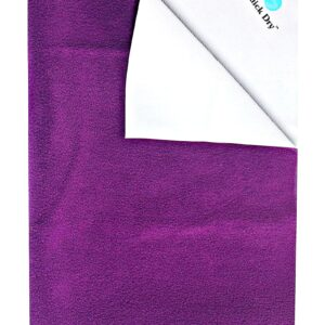 Quick Dry Plain Waterproof Bed Protector Sheet (L) - Plum-0