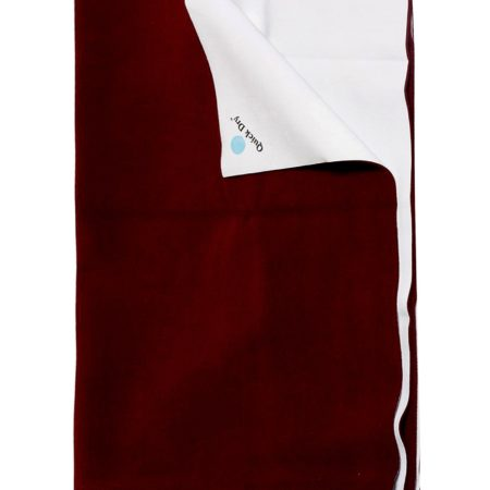 Quick Dry Plain Waterproof Bed Protector Sheet (L) - Dark Maroon-0
