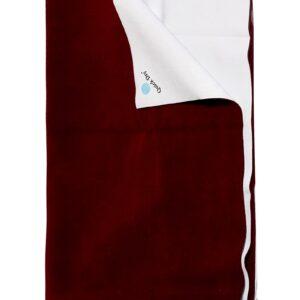 Quick Dry Plain Waterproof Bed Protector Sheet (Double Bed) - Dark Maroon-0