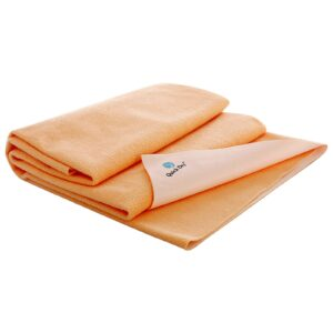 Quick Dry Plain Waterproof Bed Protector Sheet (Double Bed) - Peach-0