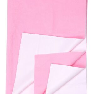 Quick Dry Plain Waterproof Bed Protector Sheet (Double Bed) - Pink-0