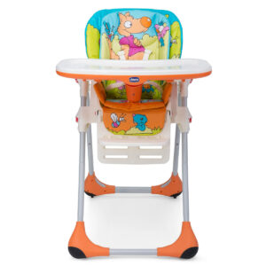 Chicco Polly 2 In 1 Highchair Wood Friends - Multicolour-0