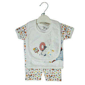 Baby Starters 4 Pieces New Born Cloth Set - White-0