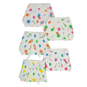 Tiny Care Knotted Cotton Nappy Set Of 5 (New Born) - White-0