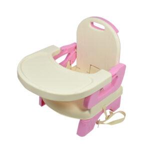 Mastela Deluxe Comfort Folding Booster Seat - Yellow/Pink-0