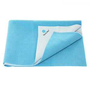 Quick Dry Plain Waterproof Bed Protector Sheet (Double Bed) - Cyan-0