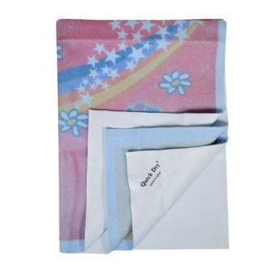 Quick Dry Printed Waterproof Bed Protector Sheet - Sky Blue - Medium-0
