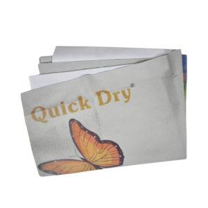 Quick Dry Printed Waterproof Bed Protector Sheet - Grey - Medium-0