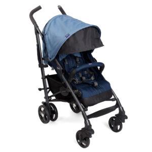 Chicco New Lite Way Stroller Basic - Blue-0