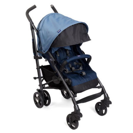 Chicco New Lite Way Stroller Basic - Blue-0