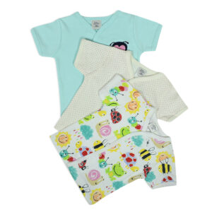 Baby Starters Half Sleeves T-shirt Pack of 3 - Multicolor-0