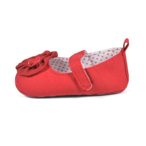 Baby Girl Party Wear Soft Belly - Red-12814