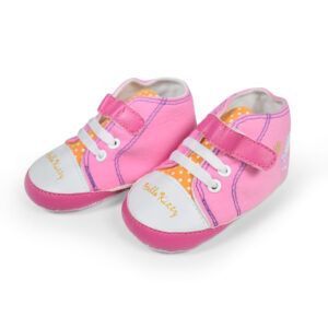 Hello Kity Baby Girl Soft Shoes - White/Pink-0