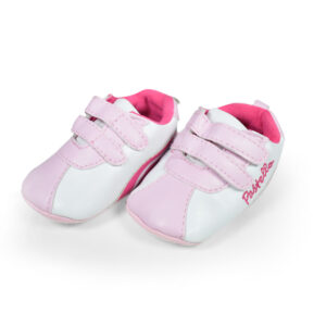 Baby Girl Velcro Soft Shoes - White/Pink-0