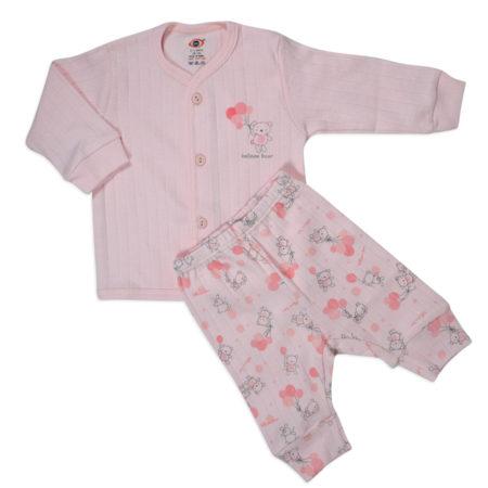 Zero Full Sleeves Vest & Pant - Peach-0