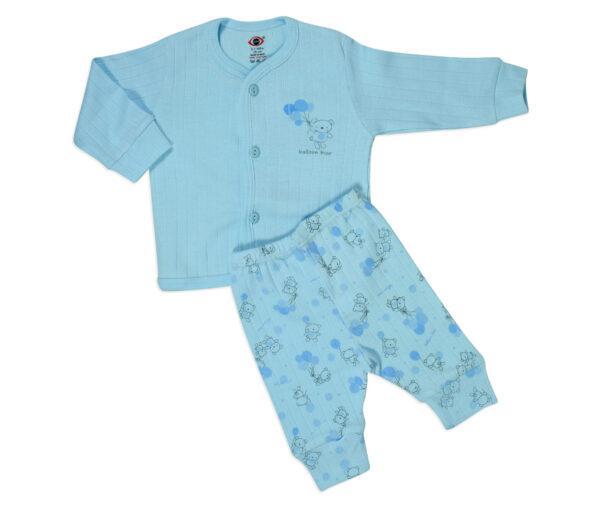 Zero Full Sleeves Vest & Pant - Sky Blue-0