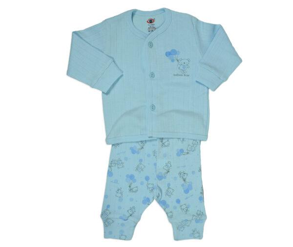 Zero Full Sleeves Vest & Pant - Sky Blue-13503