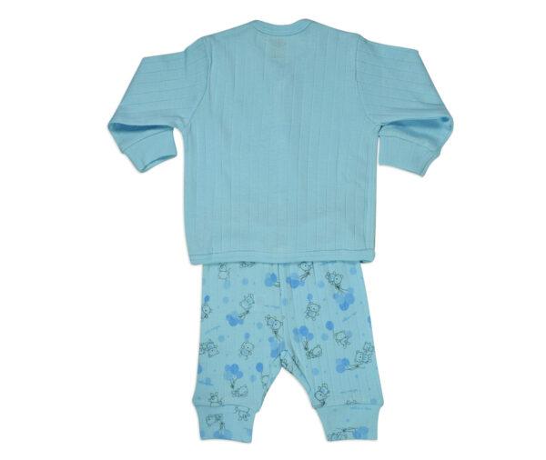 Zero Full Sleeves Vest & Pant - Sky Blue-13505