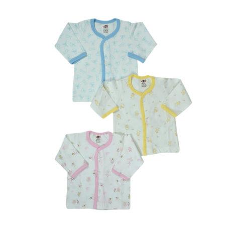 Zero Front Open T-Shirt Pack of 3 - Multicolor-0