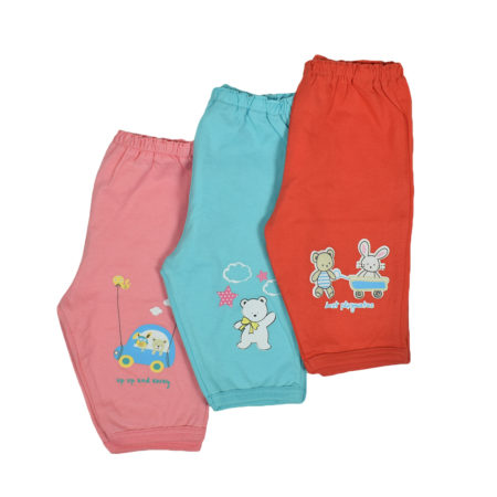 Zero New Born Cotton Legging - Pack of 3-0