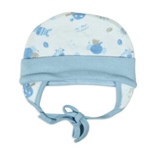 Ear Cover Tie Knot Cap Animal Print - Sky Blue-0