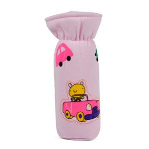 Multi Print Feeding Bottle Cover (L) - Pink-0