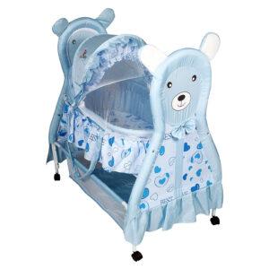 Sunbaby Cudly Bear Bassinet - Blue -0