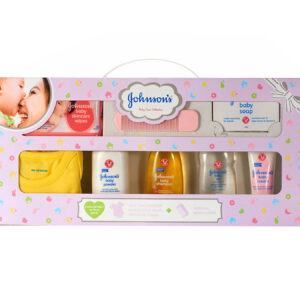 Johnson's baby Care Collection With Organic Cotton Baby Romper - 9 Gift Items-0