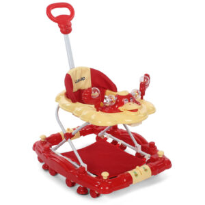 LuvLap Comfy Baby Walker Cum Rocker (18233) - Red-0