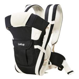 LuvLap Elegant 4 Way Baby Carrier - Black-0