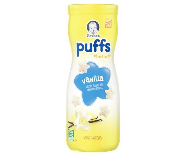 Gerber Puffs Cereal Snack Vanilla (8M+) - 42 gm NON GMO-15333