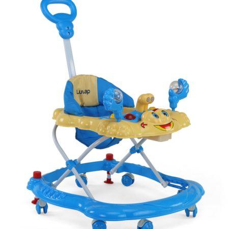LuvLap Sunshine Baby Walker (18126) - Blue-0