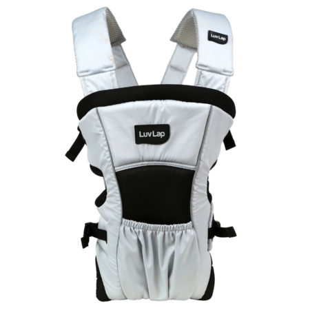 LuvLap Blossom 2 Way Baby Carrier - Grey/Black-0